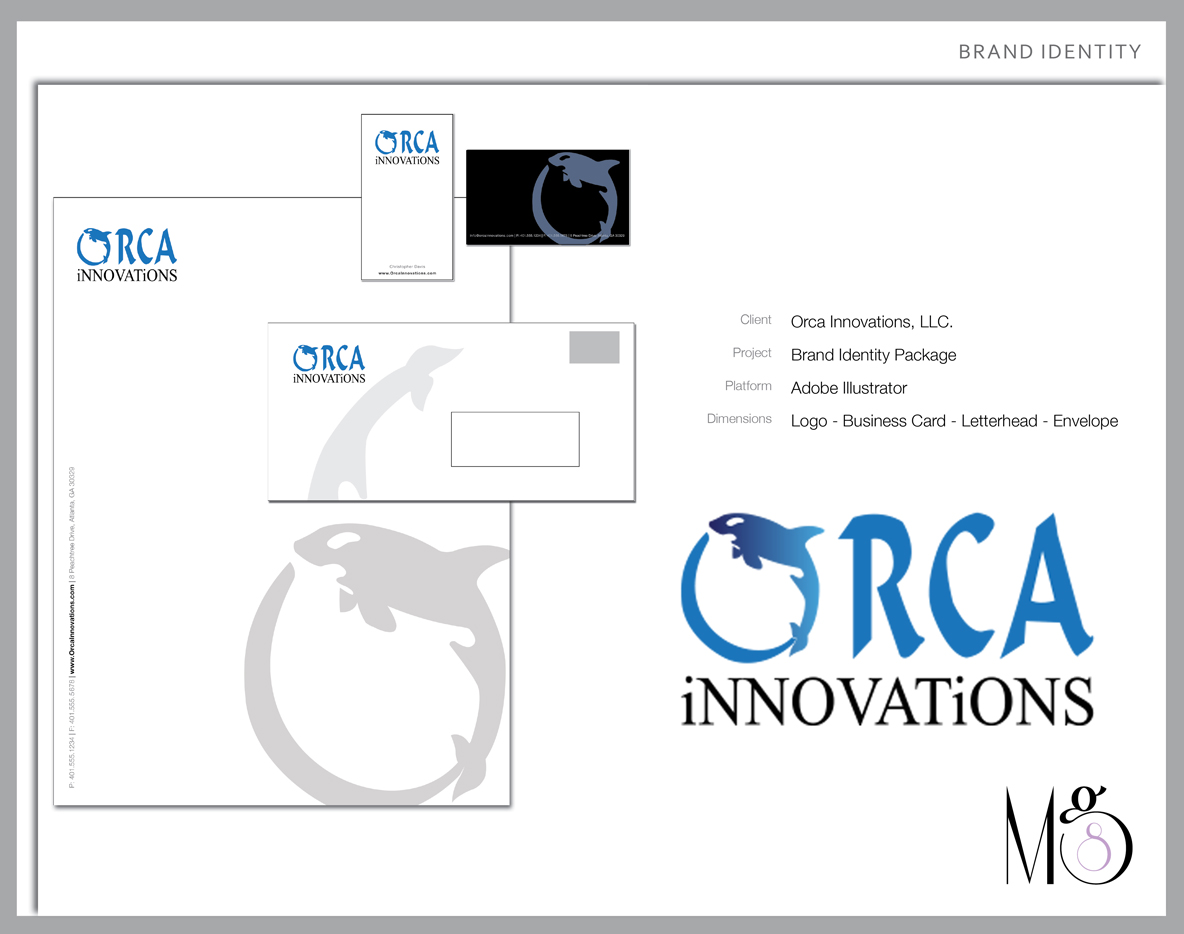 Graphic Design – Orca Innovations Inc – Brand Identity