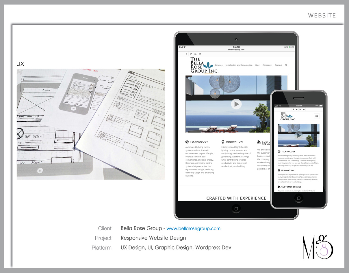 Website – Bella Rose Group – Responsive Mobile Design