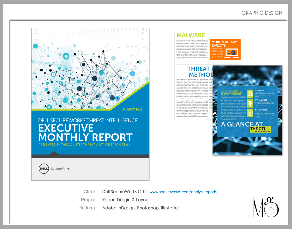 Graphic Design – Dell SecureWorks Executive Report