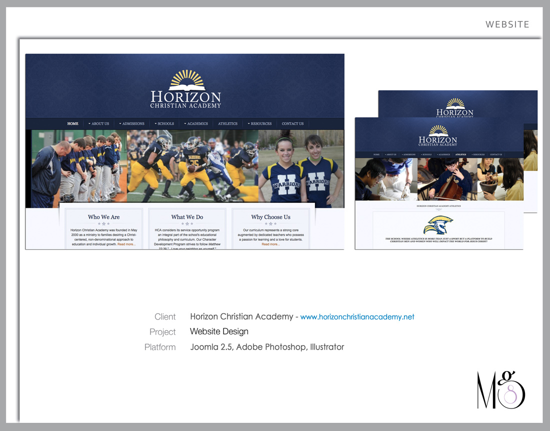 Website – Horizon Christian Academy – Full redesign