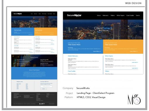 Website – SecureWorks – ClientSelect Landing Page