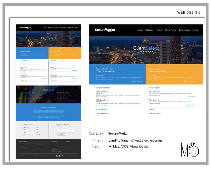 Website – SecureWorks – ClientSelect Landing Page