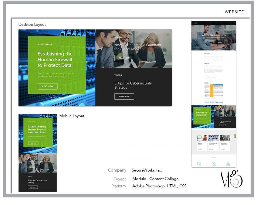 Website – SecureWorks – Collage Module